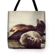 Slumbering On Mama Tote Bag