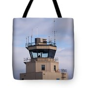 Small Air Traffic Control Tower Man Behind Glass Tote Bag