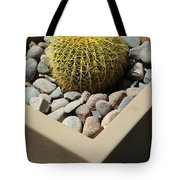 Small Barrel Cactus In Planter Tote Bag