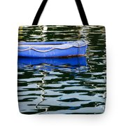 Small Blue Boat Tote Bag