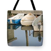 Small Boats And Dock In Port Clyde Maine Tote Bag