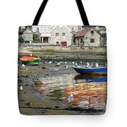 Small Boats And Seagulls In Galicia Tote Bag