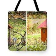 Small Cabin In Stereo Tote Bag
