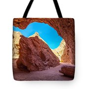 Small Canyon In Chile Tote Bag