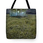 Small Cottage In Storm Tote Bag