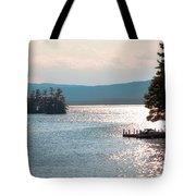 Small Dock On Lake George Tote Bag