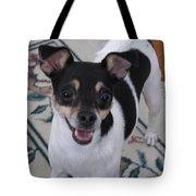 Small Dog Big Smile Tote Bag