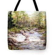 Small Falls In The Forest Tote Bag