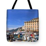 small harbor in Camogli. Italy Tote Bag
