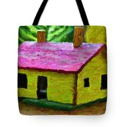 Small-house- Painting Tote Bag