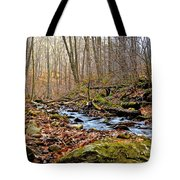 Small Pennsylvania Creek In Autumn Tote Bag
