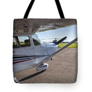 Small Plane In Private Airport Tote Bag