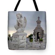 Small Praying Angel And Chapel Tote Bag