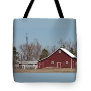 Small Red Barn With Windmill Tote Bag