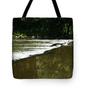 Small Ripples After Falls Tote Bag