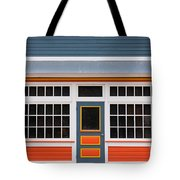 Small Store Front Entrance Colorful Wooden House Tote Bag