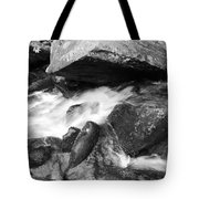Small Stream Smoky Mountains Bw Tote Bag