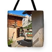small street in Penia Tote Bag