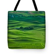 Small Town In The Lush Green Hills Tote Bag