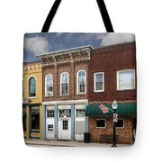 Small Town Main Street Shops Tote Bag