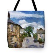 Small Town Street Tote Bag by Ayse Deniz