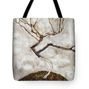Small Tree In Late Autumn Tote Bag