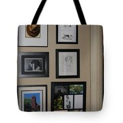 small Wall of Framed Tote Bag