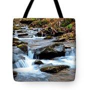 Small Waterfall In Western Pennsylvania Tote Bag