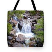 Small Waterfall Near Hwy 120 Roadside In Yosemite Np-ca- 2013 Tote Bag