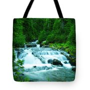 Small Waterfall On The Paradise River Tote Bag