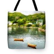 Small Yellow Boats Tote Bag