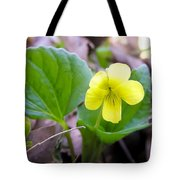 Small Yellow Violet Tote Bag