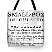 Smallpox: Title Page, 1726 Tote Bag