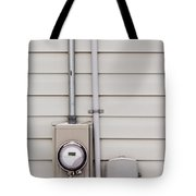 Smart Grid Power Supply Meter And Phone Line Drop Tote Bag