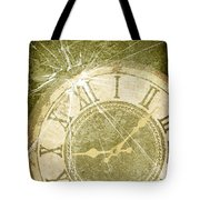 Smashed Clock Face Tote Bag