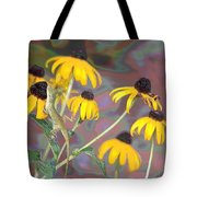 Smell The Flowers Lizard Tote Bag