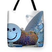 Smiley And 26 West Antennas Tote Bag