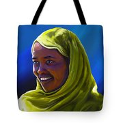 Smiling Lady Tote Bag