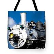 Smiling Locomotive Tote Bag