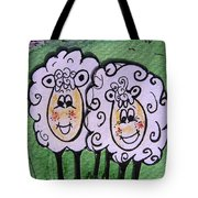 Ewe And Me Smiling  Tote Bag
