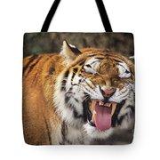 Smiling Tiger Endangered Species Wildlife Rescue Tote Bag