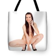 Smillung Nude Brunette Tote Bag