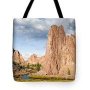 Smith Rock And The Crooked River Tote Bag
