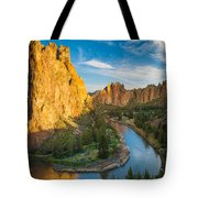 Smith Rock River Bend Tote Bag by Inge Johnsson
