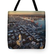 Smith Tower And West Seattle Tote Bag