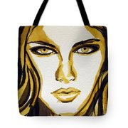 Smokey Eyes Woman Portrait Tote Bag by Patricia Awapara