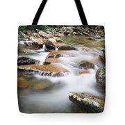 Smokey Mountain Creek Tote Bag by Adam Romanowicz