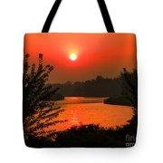 Smokey Sunrise Tote Bag