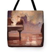 Smokin Piano Tote Bag