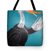 Smoking Egret In Leather Jacket Tote Bag